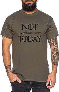 Not Today - Camiseta de Hombre Targaryen Thrones Game of Stark Lannister Baratheon Daenerys Khaleesi TV BLU-Ray DVD