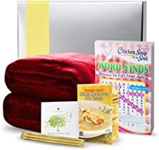 Get Well Gifts Basket Box - Includes Luxury Blanket Organic Tea Soup and Book | Get Well Gift Baskets for Women Men Teens Friends | Get Well Care Package Presented in Beautiful Gift Box with Ribbon