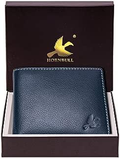 HORNBULL Maddison Men's Navy Genuine Leather Wallet