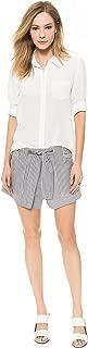 Derek Lam 10 Crosby Black/White Stripe Flare Shorts