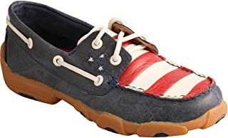 Boys' American Flag Vfw Leather Driving Mocs