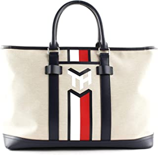 Tommy Hilfiger Casual Canvas Tote Light Stone