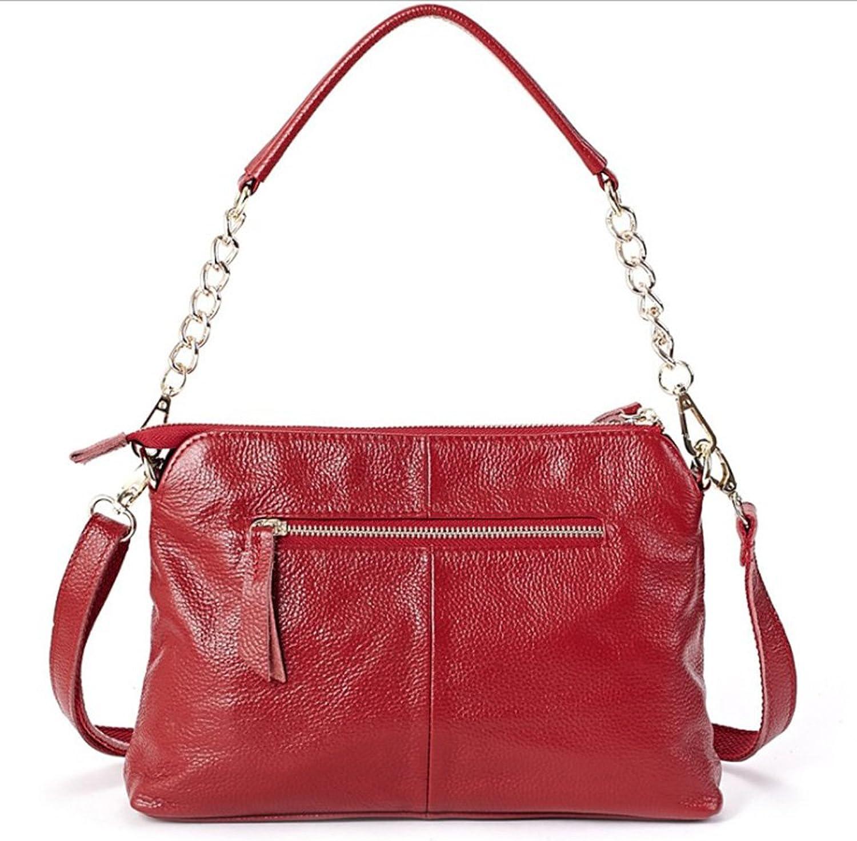 Mode Leder Damen Brieftasche   Umhängetasche beliebte Freizeit Diagonale Diagonale Diagonale Paket (rot) B07CL9C5YS bcc389
