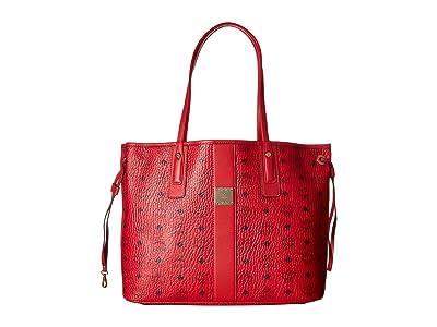 MCM Reversible Liz Medium Shopper in Visetos (Ruby Red 2) Handbags