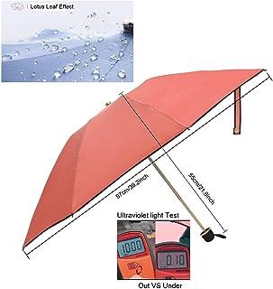 "DerrySun Travel Umbrella, Waterproof Compact Folding Anti-UV Umbrella, Prevent 99% UV Water Resistant Instant Dry Lightweight 9.4"" Windproof Sun Umbrella"