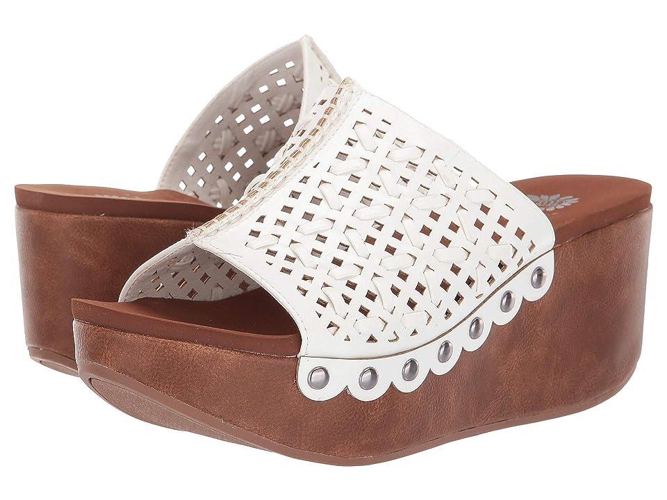 Yellow Box Babee (White) Women's Wedge Shoes