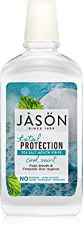 JASON Total Protection Sea Salt Mouth Rinse, Cool Mint, 16 oz. (Packaging May Vary)