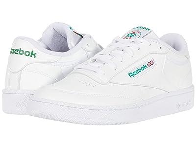 Reebok Lifestyle Club C 85 (White/White/Glen Green) Men