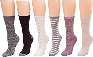 Cuddl Duds Java Pack of 6 Women's Socks, No Color, Size 4.0