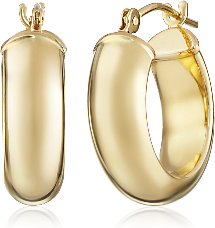 14k Yellow Duragold Hoop Earrings