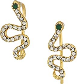 SHASHI - Snake Pave Climber Earrings