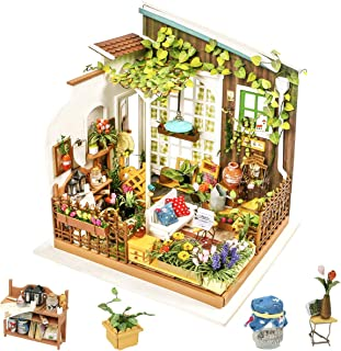 Rolife DIY Miniature Dollhouse Kit, Scale Mini House Model Kit to Build 1:24 Wooden Garden Furniture for Women and Girls G...