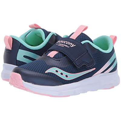 Saucony Kids Baby Liteform (Toddler/Little Kid) (Navy/Turquoise) Girls Shoes