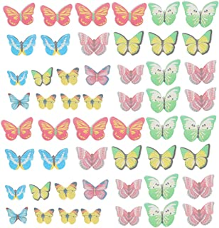 Yarnow Edible Butterflies Toppers Set of 70 - Cake and Cupcake Decoration Mixed Pattern