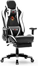 Ficmax Massage Gaming Chair Racing Style Office Chair with Footrest Reclining Computer Chair for Gaming, High Back Pro Gam...