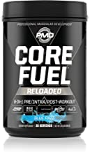 PMD Sports Core Fuel Reloaded - Creatine, Glutamine, BCAAs, Endurance and Complex Carbohydrate - 8-in-1 Premium Pre Intra and Post-Workout Performance and Recovery Drink - Blue Razz - 20 Servings