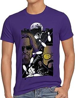 style3 The Dude Camiseta para Hombre T-Shirt el Nota Fino Lebowski Bowling