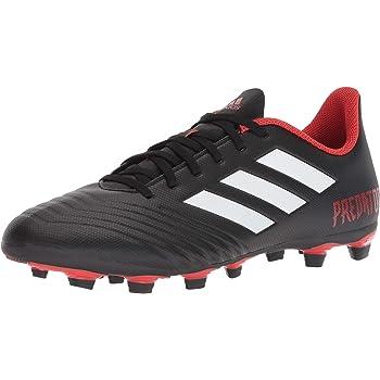 adidas PREDATOR 18.4 FxG Soccer Shoe (unisex-adult) black/white/red 7.5 M US