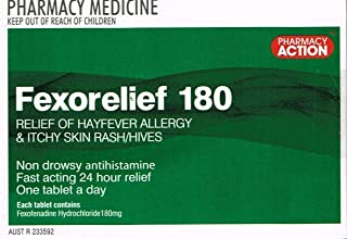 Pharmacy Action Fexorelief 180mg 50 Tabs (Generic for Telfast)