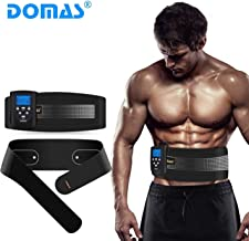 DOMAS EMS AB Muscle Stimulator Belt, Adjustable Electronic Muscle Toning Waist Trainer, 8 Massage Modes for Improvement of Muscle Tone Firmer Muscles, Fitness Belt for Women & Men
