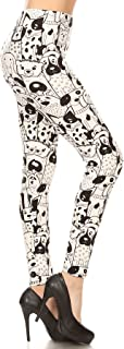 Leggings Depot Women's Ultra Soft Printed Fashion Leggings BAT5