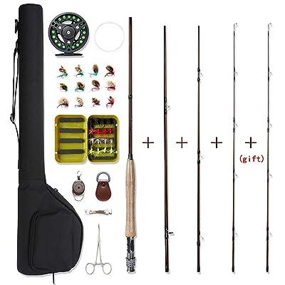 NetAngler Fly Fishing Rod and Reel Combo 4-Piec...