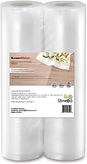 Bonsenkitchen Sacs sous Vide Alimentaire 2 Rouleaux de 28 x 600 cm Sac Sous Vide pour la Conservation des Aliments et la C...
