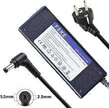 FSKE 75W 19V 3.95A Cargador para Toshiba Satellite C660 L850 L755 C855 AC Adapter, Fits PA3715E-1AC3 PA3714U-1ACA PA3743U-1ACA ADP-90CD DB PA3468E-1AC3 Notebook EUR Power Supply, 5.5 * 2.5mm
