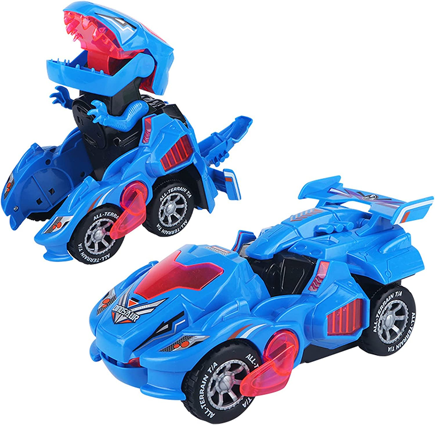 Dinosaur Toys for Kids 3-5,Automatic (Blue)