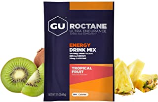 GU Energy Roctane Ultra Endurance Energy Drink Mix, 10 Single-Serving Packets, Tropical Fruit (Packaging May Vary)