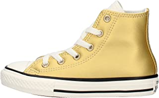 Converse Scarpe Chuck Taylor Hi Metal all Star in Pelle Oro 655126C