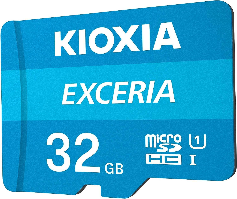 Kioxia 32GB microSD Exceria Flash Memory Card w/Adapter U1 R100 C10 Full HD High Read Speed 100MB/s LMEX1L032GG2