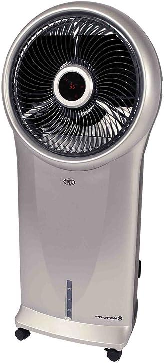 Raffrescatore evaporativo argo polifemo con display led, 110 watt, purificazione dell`aria,  eff energetica a 398000380
