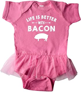 Life's Better with Bacon Infant Tutu Bodysuit