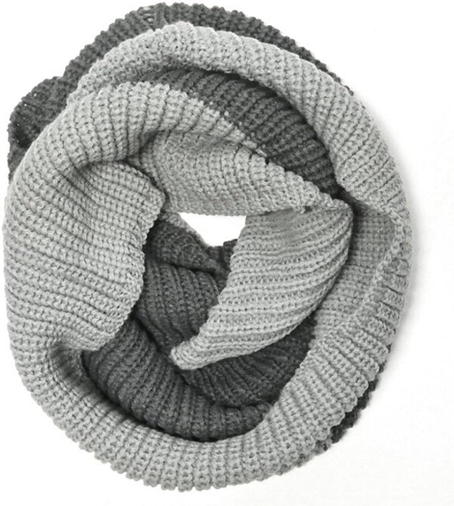 Magik Unisex Men's Women's Winter Warm Infinity 2 Circle/ 2 Loop Cable Knit Cowl Neck Long Scarf Shawl