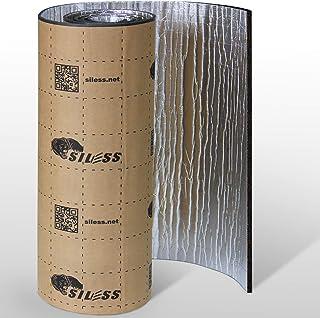 Siless Liner 157 mil 36 pies cuadrados de aluminio con acabado de lámina de aluminio para el coche, silenciador de sonido ...