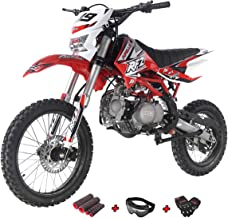 X-Pro 125cc Dirt Bike Pit Bike Adult Dirt Pitbike Gas Dirt Bikes with Headlight 125cc Gas Dirt Pit Bike with Gloves, Goggle and Handgrip