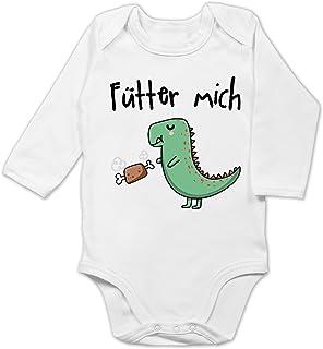 Shirtracer - Strampler Motive - Fütter Mich - Baby Body Langarm
