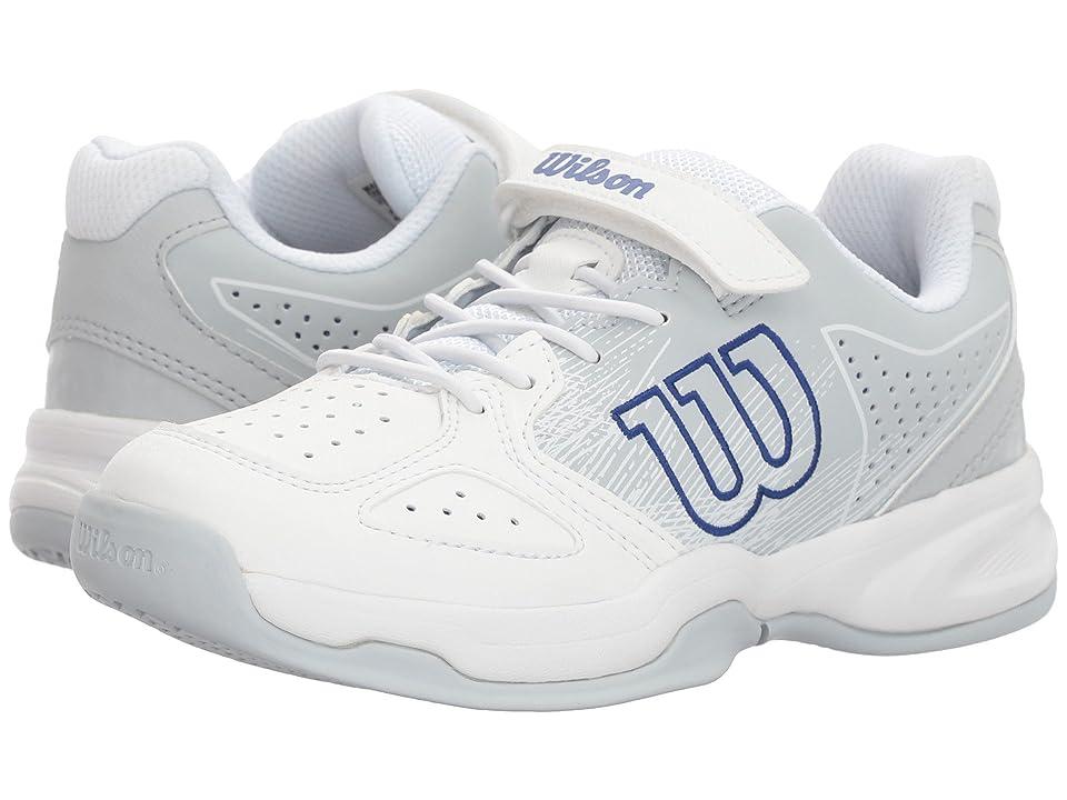 Wilson Kids Stroke K Tennis (Little Kid) (White/Pearl Blue/Dazzling Blue) Boys Shoes
