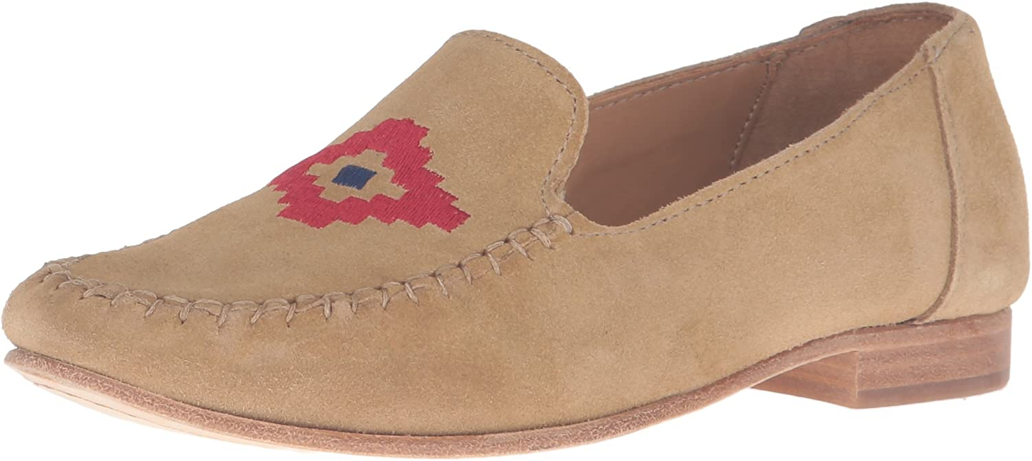 Soludos Womens Flat Embroidered Moccasin