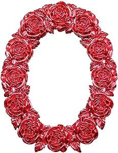 LIHY Miroir de Maquillage- Miroir de Maquillage Rouge, Miroir de la Commode Rouge, Angle réglable