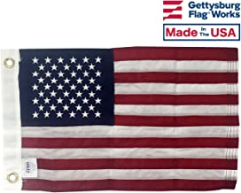 12x18 American Boat Flag - Marine Grade US Flag, Embroidered All Weather Nylon with Reinforced Stitching - for Outdoor use, Made in USA