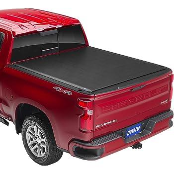 "Tonno Pro Lo Roll, Soft Roll-up Truck Bed Tonneau Cover | LR-1050 | Fits 2014-18, 19 Ltd./Lgcy GMC Sierra & Chevrolet Silverado 1500 5'8"" Bed (69.3"")"