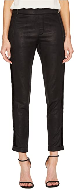 The Kooples - Leather Effect Sport Pants with Zip