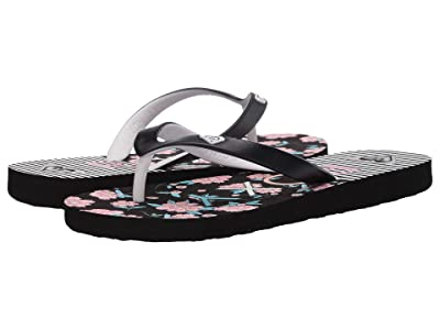 Roxy Kids Tahiti VI (Little Kid/Big Kid) (Black/Pink/Black) Girls Shoes