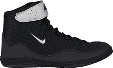 Nike Men's Inflict 3 Breathable Air Mesh Wrestling Shoes ( Black/Silver / #65 )