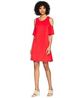 Slinky Knit Cold Shoulder Dress KS5K8197