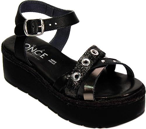 New on Amazon Sandales Compensées Femme 100% 100% Cuir Made in   voici la dernière