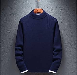 Men's Pullover Sweater, Men's Elegant Cotton Round Neck Sweater in Autumn And Winter Solid Color Casual Sweater Top Bottom...