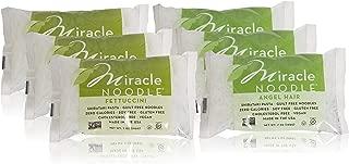 Miracle Noodle Shirataki Fettuccini & Angel Hair Variety Pack, Gluten-Free, Zero Carb, Keto, Vegan, Soy Free, Paleo, Blood Sugar Friendly, 7oz (Pack of 6)
